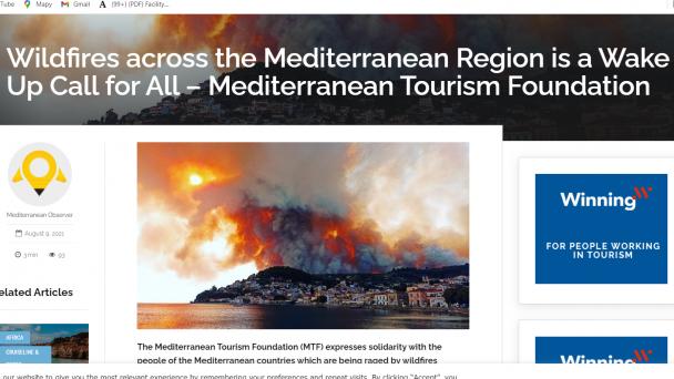 Požiare v krajinách Mediteránu
